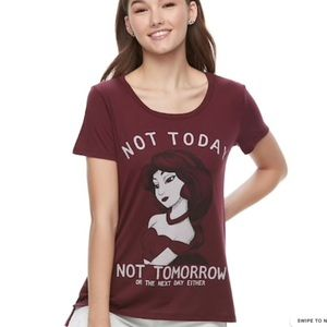 NWOT Jasmine Graphic Maroon Tee Shirt